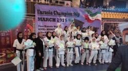 ۲۷ مدال سهم بانوان کاراته کا مسجدسلیمانی در مسابقات بین المللی شیراز