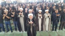 نماز باشکوه ظهر عاشورا در مسجدسلیمان برگزار شد +تصاویر