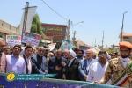 گزارش تصویری باشگاه روزنامه نگاران مسجدسلیمان از راهپیمایی روز قدس در مسجدسلیمان