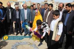 سومین مدرسه خیرساز در مسجدسلیمان کلنگ زنی شد + تصاویر
