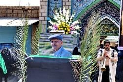 گزارش باشگاه روزنامه نگاران مسجدسلیمان از مراسم تشییع پیکر استاد فقید زنده یاد قباد باقری، چهره ماندگار فرهنگی + تصاویر