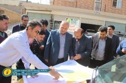 بازدید علی عسگر ظاهری نماینده مردم مسجدسلیمان به همراه جمعی از مسئولین از پروژه های آبرسانی و فاضلاب شهرستان + تصاویر