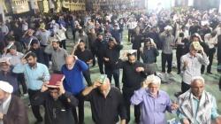 مراسم احیاء شب بیست و سوم ماه مبارک رمضان با حضور اقشار مختلف در مصلی بزرگ امام خمینی مسجدسلیمان برگزار شد + تصاویر