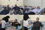 جمعی از اصحاب رسانه شهرستان مسجدسلیمان با حضور در پایگاه انتقال خون شهرستان به اهداء خون پرداختند + تصاویر
