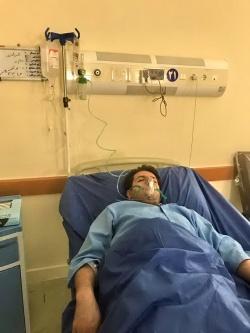 خبرنگار واحد مرکزی خبر خوزستان و شبکه بین المللی خبر در مسجدسلیمان مجدداً در بیمارستان بستری شد + تصویر