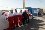 بازدید فرماندار مسجدسلیمان از پایگاه هلال احمر شهرستان در مرز چذابه