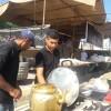 گزارش تصویری توزیع ۲تن آش نذری توسط هیئت مذهبی و مردمی نینوا مسجدسلیمان