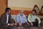 دیدار فرمانده انتظامی و رئیس بنیاد شهید مسجدسلیمان با خانواده شهیدان قنبری و کیانی