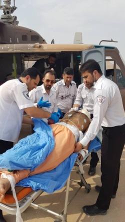 ۴مصدوم در پی واژگونی خودرو سمند در مسجدسلیمان/اعزام مصدومین با با لگرد اورژانس به شهرستان اهواز