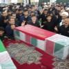 مراسم وداع با دو شهید گمنام دفاع مقدس برگزار شد