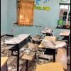 ریزش سقف کلاس یکی از مدارس مسجدسلیمان و حادثه ای که به خیر گذشت