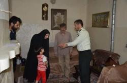 دیدار فرمانده انتظامی شهرستان مسجدسلیمان با خانواده شهید سروان محمد مراد بهزادی