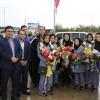 آیین استقبال و قدردانی از قهرمانان مدال آور تیم ملی کاراته در مسجدسلیمان