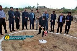 آیین کلنگ زنی سالن چند منظوره ورزشی امام رضا(ع) برگزار شد + تصاویر