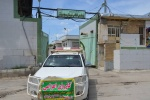 کاروان اعزامی و ارسال محموله کمک های فرماندهی انتظامی شهرستان مسجدسلیمان با همکاری سایر نهادها 