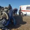 واژگونی نیسان در مسیر لالی - مسجدسلیمان هشت مصدوم داشت
