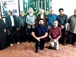 دیدار رییس اداره فرهنگ و ارشاد اسلامی به همراه جمعی از هنرمندان با امام جمعه مسجدسلیمان + تصاویر